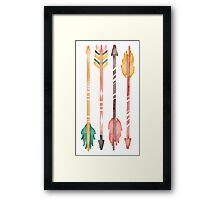 Watercolor Arrows Framed Print