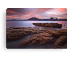 Elgol. Sunset in Winter. Isle of Skye. Scotland. Canvas Print