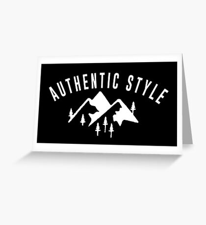 Authentic style! Greeting Card