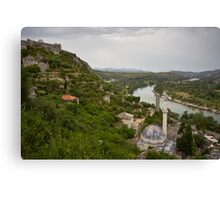 A view of Neretva River from Počitelj, Bosnia and Herzegovina Canvas Print
