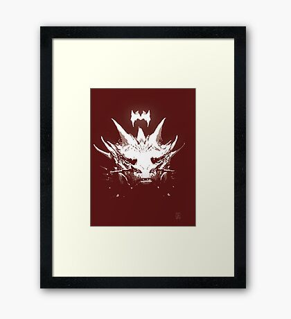 King Under the Mountain - Team Smaug Framed Print