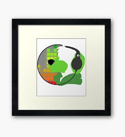 The Classy Logo: Green! Framed Print