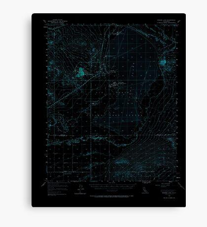 USGS TOPO Map California CA Rogers Lake 298802 1956 62500 geo Inverted Canvas Print