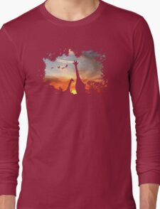 Wild African Sunset Long Sleeve T-Shirt