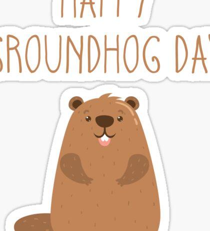 2017 Happy Groundhog Day Sticker