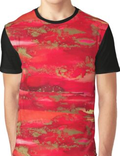 Alcohol ink - red, orange, yellow, gold Graphic T-Shirt