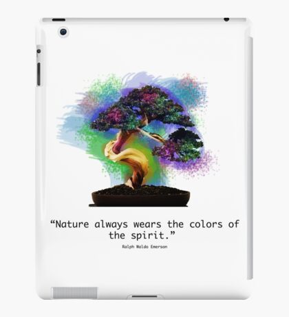 Nature Always Wears the Colors of the Spirit iPad Case/Skin