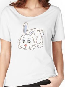 Cute white cartoon rabbit Women's Relaxed Fit T-Shirt