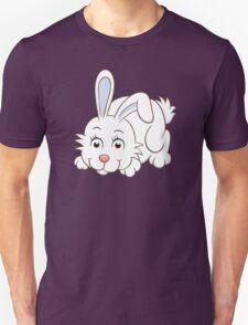 Cute white cartoon rabbit Unisex T-Shirt