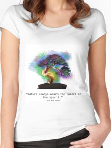 Nature Always Wears the Colors of the Spirit Women's Fitted Scoop T-Shirt