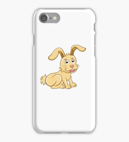 Funny yellow cartoon rabbit iPhone Case/Skin