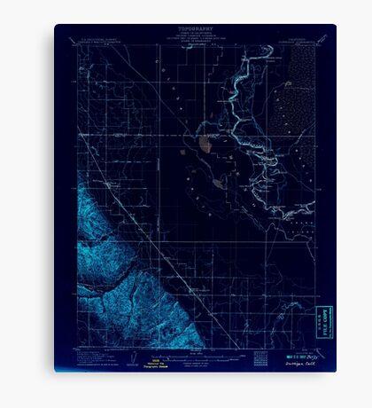 USGS TOPO Map California CA Dunnigan 297358 1907 62500 geo Inverted Canvas Print