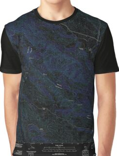 USGS TOPO Map California CA Smith Mountain 20120227 TM geo Inverted Graphic T-Shirt