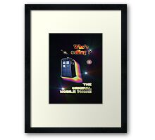 Who's Calling? The Original Mobile Phone Design Framed Print
