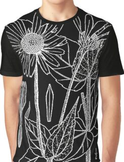 Britton And Brown Illustrated flora of the northern states and Canada 0781 Helianthus mollis drawing Graphic T-Shirt