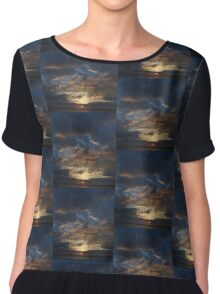 Sunset with clouds Chiffon Top