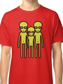 Three aliens staring at you Classic T-Shirt