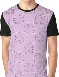 Water Bear Purple Pattern Graphic T-Shirt