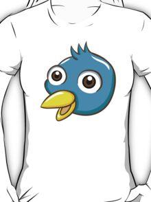 Head of cute blue cartoon bird T-Shirt
