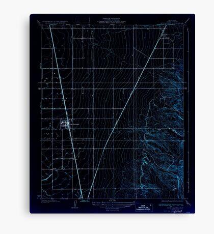 USGS TOPO Map California CA McFarland 296295 1930 31680 geo Inverted Canvas Print