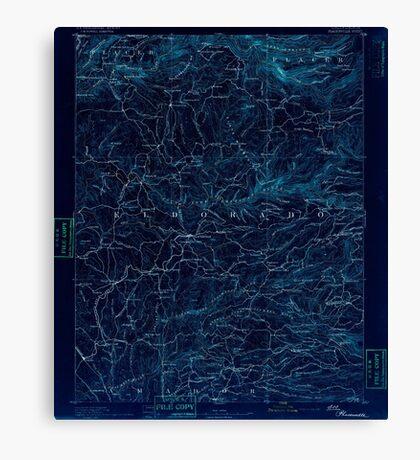 USGS TOPO Map California CA Placerville 299544 1892 125000 geo Inverted Canvas Print
