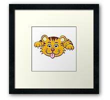 Front of funny little cartoon tiger  Framed Print
