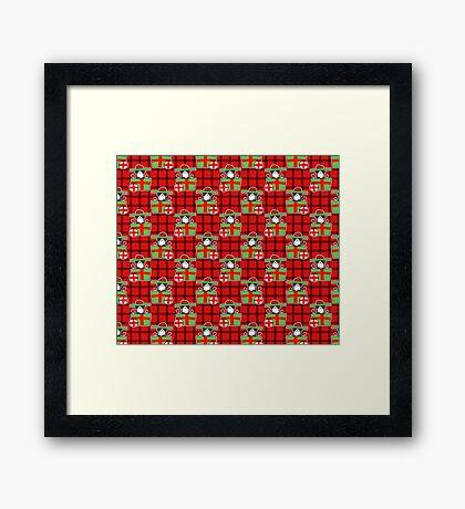 Christmas Gift Bernie Pattern Framed Print