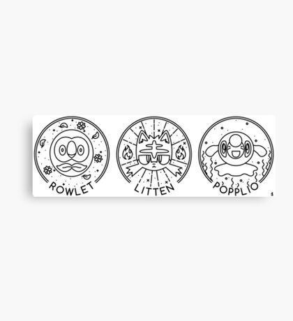 Sun & Moon Trio Canvas Print