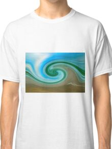 Blue Green Wave Classic T-Shirt