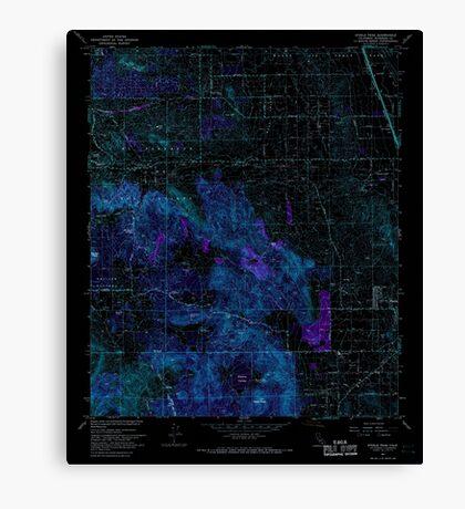 USGS TOPO Map California CA Steele Peak 300660 1967 24000 geo Inverted Canvas Print