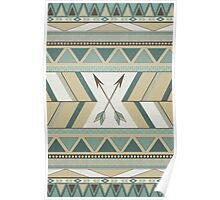Aztec Pattern Arrows Poster