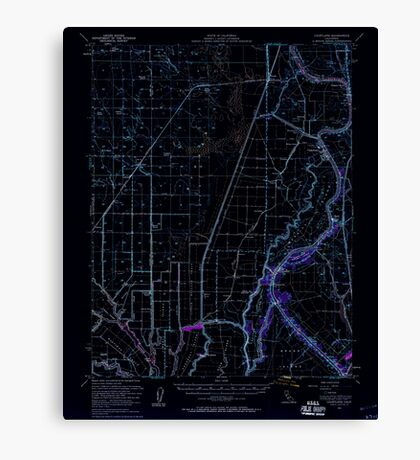 USGS TOPO Map California CA Courtland 297206 1952 62500 geo Inverted Canvas Print
