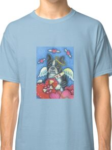 VALENTINES DAY BOSTON TERRIER CUPID Classic T-Shirt