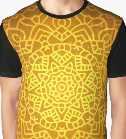 Ethnic Oriental gold mandala Graphic T-Shirt