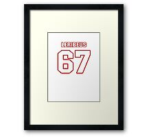 NFL Player Josh LeRibeus sixtyseven 67 Framed Print