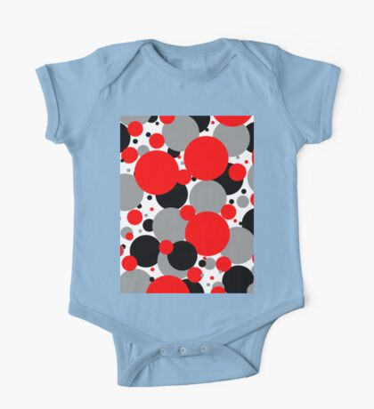 Red Polka Dots One Piece - Short Sleeve