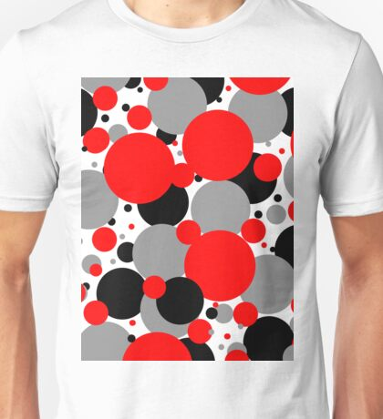 Red Polka Dots Unisex T-Shirt