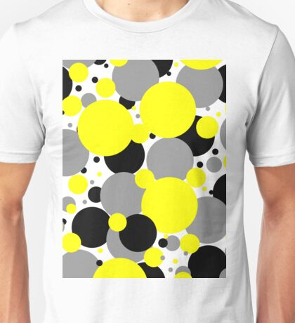 Yellow Polka Dots Unisex T-Shirt