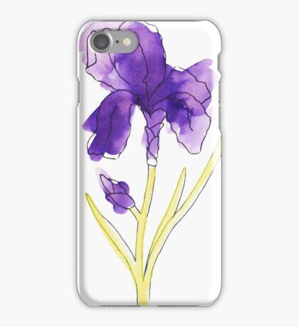 watercolor iris iPhone Case/Skin