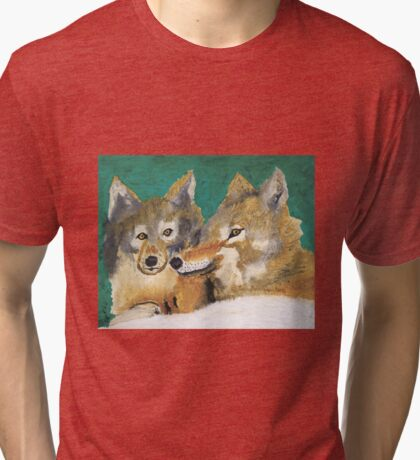 Mr. and Mrs. Wolf Tri-blend T-Shirt