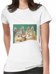 Mr. and Mrs. Wolf Womens Fitted T-Shirt
