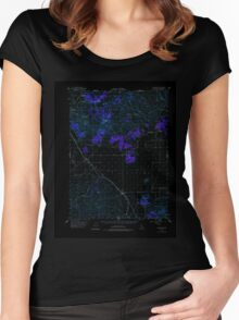 USGS TOPO Map California CA Ravendale 298722 1954 62500 geo Inverted Women's Fitted Scoop T-Shirt