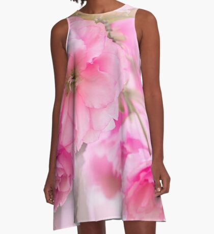 pink spring flowers for Valentines Day A-Line Dress