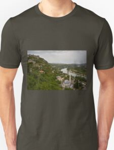 A view of Neretva River from Počitelj, Bosnia and Herzegovina Unisex T-Shirt