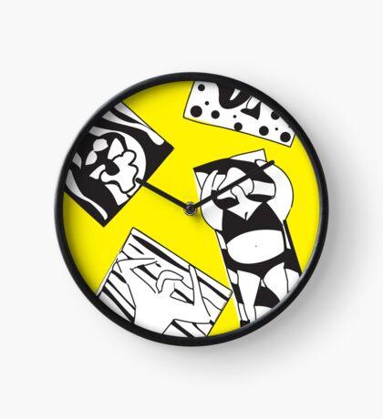 Yellow Bee Beach Clock