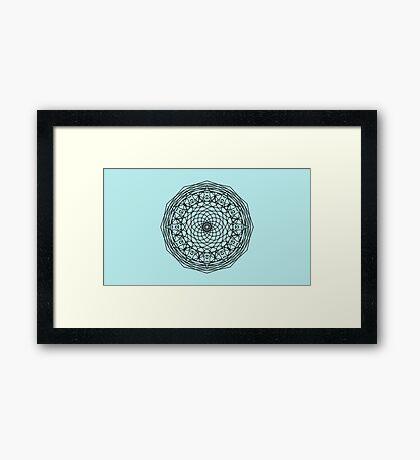 Dream Catcher Mandala Framed Print