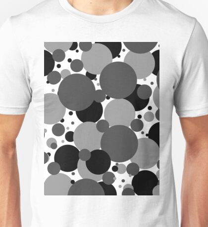 Grey Polka Dots Unisex T-Shirt