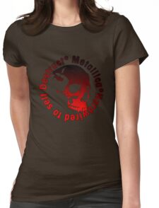Skul metal 1 Womens Fitted T-Shirt