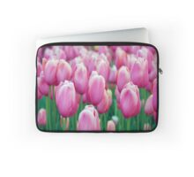 Pretty Pink Tulips Laptop Sleeve