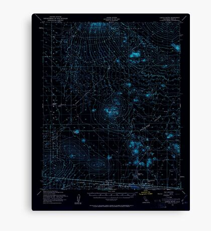 USGS TOPO Map California CA Castle Butte 297049 1956 62500 geo Inverted Canvas Print